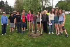 2017-2018 Grade 7 Tree Dedication